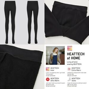 Ladies Womens Heat Tech Extra Warm Pile Lined Tights Thermal Warm Soft Black S/M