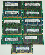 1 GB PC2-5300 Working - SODIMM - DDR2 (Lot of 11) Mixed Brand Memory RAM