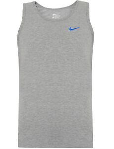 New Men's Nike Logo Sleeveless T-Shirt Vest Tank Top Singlet - Black Navy Grey