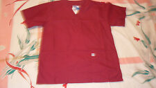 Nwt Scrub Top Spectrum Wine U pick S L Xl 2Xl or 3Xl plus poly blend uniform top