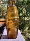 Old Sachem Bitters&Wigwam Tonic Bottle bright golden yellow w/amber tone barrel
