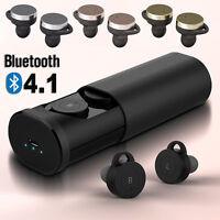 Mini TWS Wireless Bluetooth Headphone Headset Earbud with Charging Case