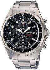 Casio AMW330D-1AV, Chronograph Watch, Silvertone Bracelet, Date, 100 Meter WR