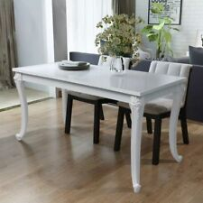 Rectangular Dining Table MDF 116x66x76 cm High Gloss White G3X5