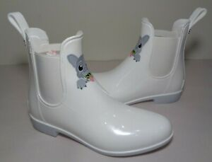 Sam Edelman Size 7 M TINSLEY White With Dog Rubber Rain Boots New Women's Shoes