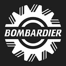 """Bombardier  vinyl wall sticker decal large 10.5"""" x10.5"""""""