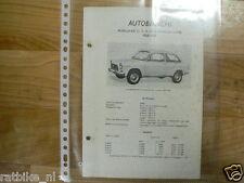 A1-AUTOBIANCHI PRIMULA 65C 2,3,4,EN 5 DEURS EN COUPE