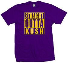 Straight Outta Kush T-Shirt - Weed Mota Purp Bud Smoke Vape Stoner - All Colors