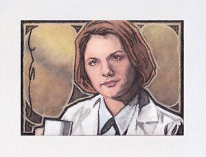 Stargate SG1 (Janet Fraiser) Original ACEO Sketch Card (Hand Painted 1/1)