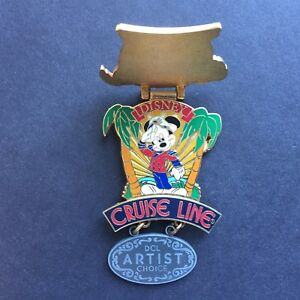 DCL June 2002 Artist Choice Hinged Dangle Captain Mickey LE 750 Disney Pin 12682