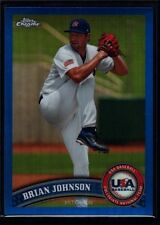 BRIAN JOHNSON /499 $30+ MINT RED SOX ROOKIE BLUE REFRACTOR RC 2011 TOPPS CHROME