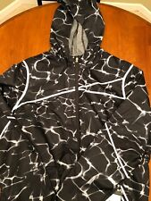 NWT SPYDER RYZE WINDBREAKER SHELL JACKET WAVES BLACK PRINT SIZE XL