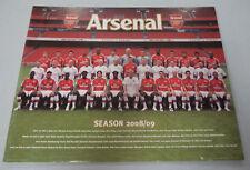 #BW8.   MOUNTED ARSENAL  FOOTBALL CLUB  POSTER ON BACKING - 2008/09 SEASON