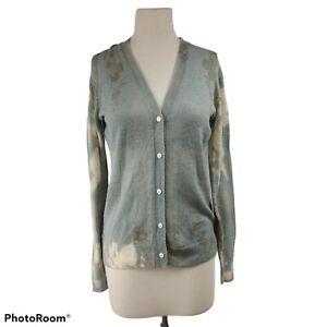 Marika Charles 100% Merino Wool Button Down Tie Dye Cardigan Sweater Womens 4 M?