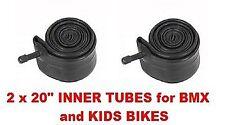 """2 x Innertube RALEIGH BMX BIKE INNER TUBE 20"""" Schrader valve 20 x 1.75 - 2.12"""