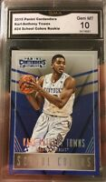 Karl Anthony Towns rookie Card 2015 Gem Mint 10 All Star Panini Contenders B