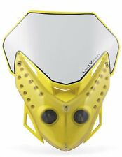 mascherina portafaro fanale Acerbis LED VISION colore giallo moto cross enduro