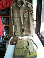 WW2 US PARATROOPER ARMY M42 AIRBORNE UNIFORM JUMPSUIT JACKET TROUSERS S/M