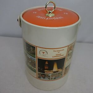 Vintage University Texas Longhorns Ice Bucket Darrell Invitational 1976