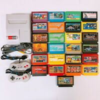 Nintendo New AV Famicom Console System HVC-101 NES Japan 25 Games Work Good