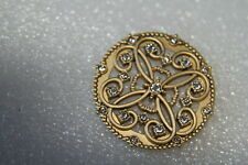 Gold Lace Face w/Swar Crystals (Bz4046) Origami Owl Living Locket (new) Senti Lg