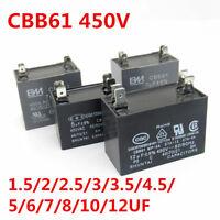CBB61 450V 1.5/2/2.5/3/4.5/5/6/7/8/10/12 UF Air conditioner Fan Motor Capacitor