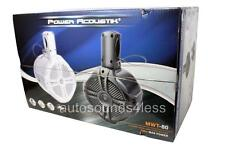 "Power Acoustik MWT-80W 750 Watt Marine White 8"" Wake Tower Enclosure Speakers"