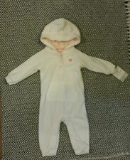 NWT! Carter's Baby One Piece Jumpsuit - White Fleece - 6 months
