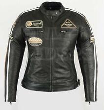 Veste En Cuir Pour Femme, Blouson Pour Moto, Vintage, Noir, Biker, Chopper Retro