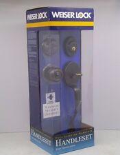 NEW Weiser Lock Entrance Handleset Elements Series OIL RUBBED BRONZE Design DA