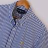Mens Genuine Ralph Lauren Blue White Custom Fit Short Sleeve Shirt Size L Large