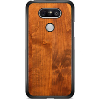 For LG G6 Case Phone Cover Hard Wood Y00159