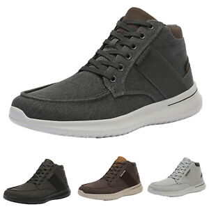 Mens Boys Youth Mid Top Sneakers Cavans Lace up Casual Shoes Walking Shoes