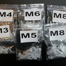 5 x 20er-Paket durchsichtige, klare M8 x 20mm, M3- M6 x 20mm, Bolzen & Muttern