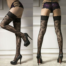 Sexy Lingerie Womens Lace Sheer Thigh-Highs Stockings Garter Belt Suspender