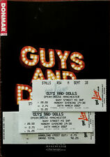 More details for guys and dolls, opera house manchester brochure / programme 2007 + 2 tickets