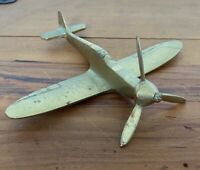 SOLID BRASS SPITFIRE FIGHTER PLANE WITH MOVING PROPELLER