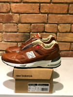 NEW BALANCE M991GNB SHOES ELITE GENT COLOR BURNT ORANGE/SILVER  MADE IN THE UK