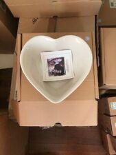 Longaberger ivory Heart Dish - new in box