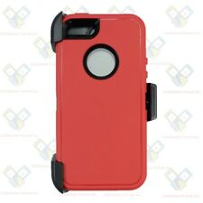 Red Black iPhone 5S / SE Defender Case w/ Belt Holster Clip fits Otterbox