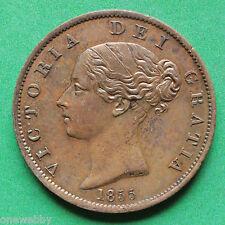 1855 Queen Victoria Half-Penny A/UNC SNo15140