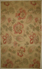 Antique Beautiful 19th C. French Exotic Floral Cotton Print Fabric (8859)