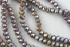 """16"""" Str. 8mm Chinese Crystal Glass Beads Faceted Rondelle Purple Agate AB"""
