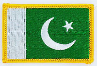 PAKISTAN FLAG PATCH BADGE IRON ON NEW EMBROIDERED
