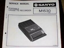 Sanyo M1530 Cassette Recorder Service/Parts Manual