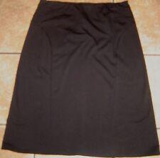 Misses SHARAGANO~ BLACK DRESS SKIRT~size 10~NEW~A-Line Stretch Dressy~NWOT
