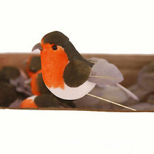 Christmas Robin Tree Decoration 6cm/2.25 inches Long x Box of 12
