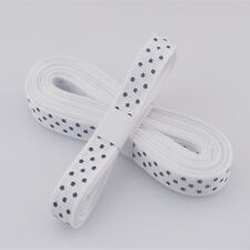 "5yds 3/8""(10MM) White Christmas Ribbon Printed lovely dots Grosgrain Ribbon"