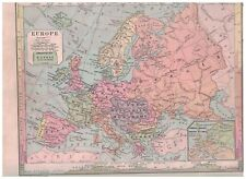 1885 Map of Europe - Nice Colors & Details