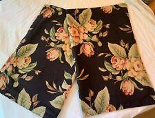 RALPH LAUREN Charleston Black Floral Standard Pillowcases 2 ~ Italy